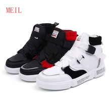 Street Dancing High Top Sneakers Sapato Hip Hop Shoes Quality Pu Leather Mens Casual Luxury Comfortable Youth
