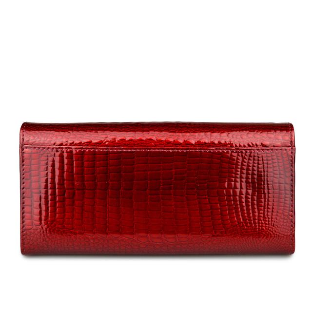 Women's Stylish Long Patent Leather Wallet