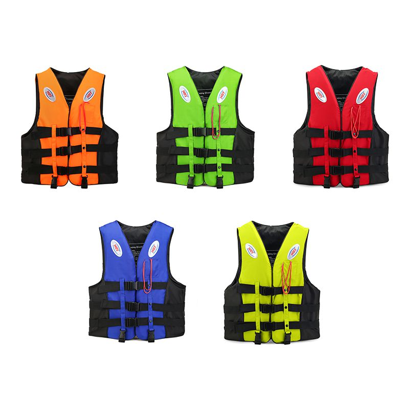Professional Swimming Life Vest Children Adult Reflective Adjustable Waistcoat Jacket With Whistle Belt For Adults Children