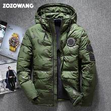 ZOZOWANG chaqueta de invierno de alta calidad para hombre gruesa parka de nieve abrigo blanco pato abajo chaqueta hombres viento abajo abrigo tamaño 4XL