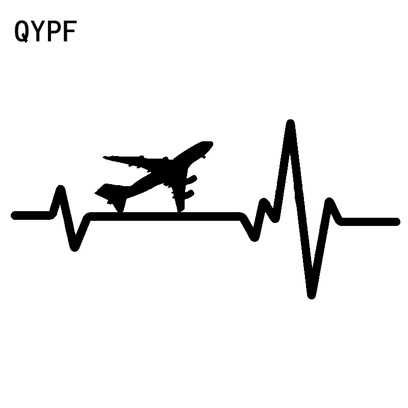 QYPF 19cm*8.8cm Root Antenna Show The Rate Of Twists And Turns Airplane Vinyl Car Sticker New Decal Parts Pattern C18-0798