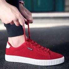 Zapatos Ocasionales de los hombres de Otoño Y Primavera Nueva Llegada con cordones de Bajo estilo de Ocio de Moda Jóvenes Zapatos de Tendencia Masculina Plana Calzado Rojo zapato