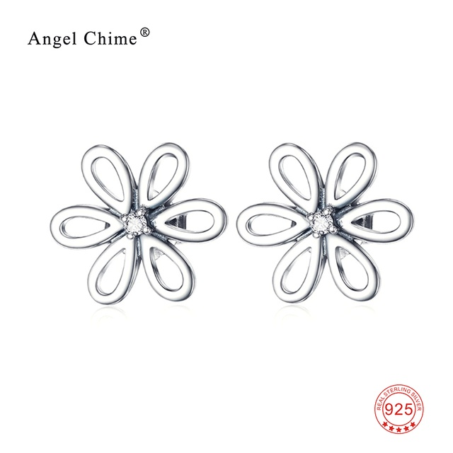 7b2c567cc Women Fashion 925 Sterling Silver Earring Tiny Darling Daisies Stud Earrings  Female Jewelry Christmas Gifts GNE9419