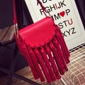 Small bags 2016 autumn and winter women's handbag genuine leather tassel cross-body small shoulder bag