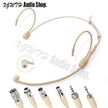 Однонаправленная головная повязка головной микрофон для Shure Sennheiser AKG MiPro Audio-Technica 4Pin 3Pin TA4F 3,5 мм замок
