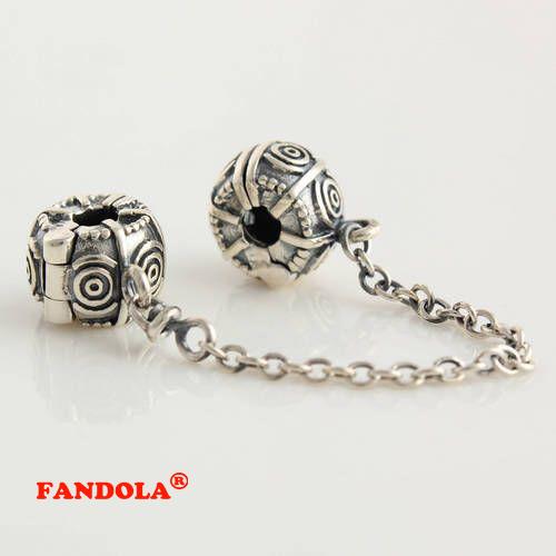 Serve pandora encantos pulseiras cadeia grampo de segurança de bloqueio beads 925 sterling silver jewelry frete grátis
