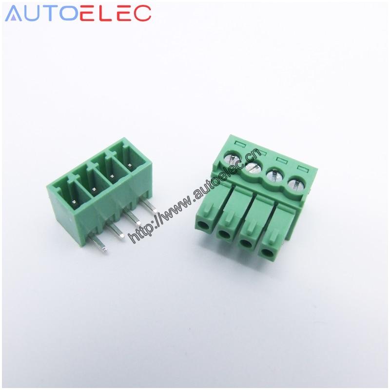 50sets 4pin Pitch3 50mm Pa66 Pcb Plug In Terminal Block