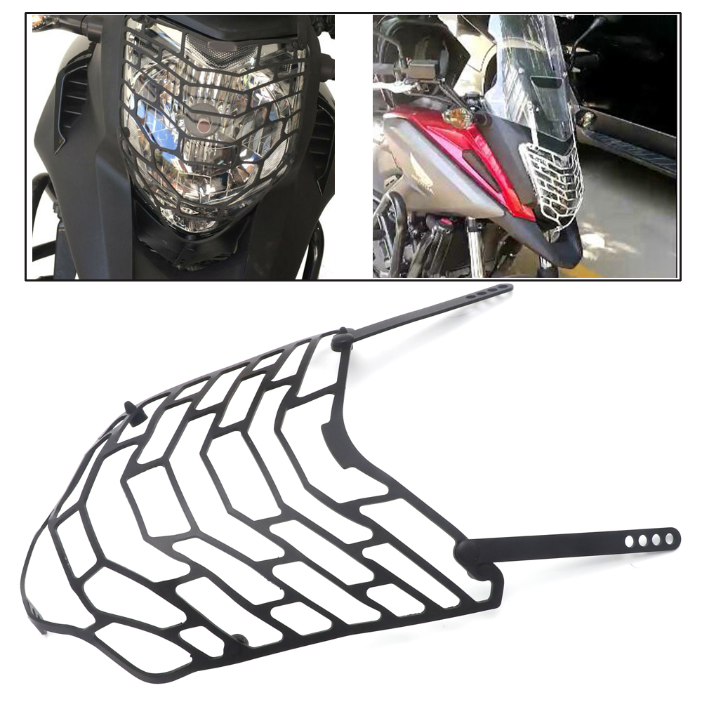 for <font><b>HONDA</b></font> NC700X NC 700X <font><b>NC750X</b></font> NC 750X 2012-2018 Motorcycle Front Head <font><b>Light</b></font> Headlight Lens Grille Guard Cover Protector image