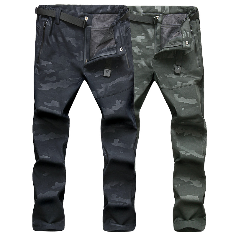LoClimb NEW Winter Men Pants Zipper Pockets Military Tactical Camouflage Outdoor Sports Trousers Camping Hiking Ski Pants,AM198 mens ripstop tactical pants outdoor camping water repllent hiking pants urban sports trousers army green