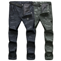 LoClimb NEW Winter Men Pants Zipper Pockets Military Tactical Camouflage Outdoor Sports Trousers Camping Hiking Ski Pants,AM198