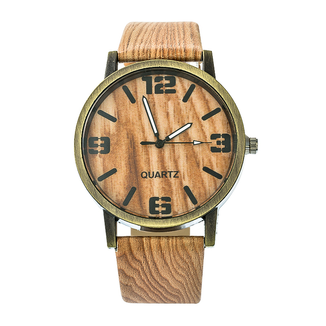 Wood Stripe Pattern Wrist Watch 3