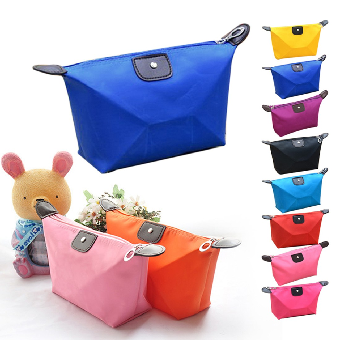 Great Useful WomenS Pouch Bag Handbag Travel Make Up Cosmetic Purse Zipper Holder Organiser Storage Toiletry