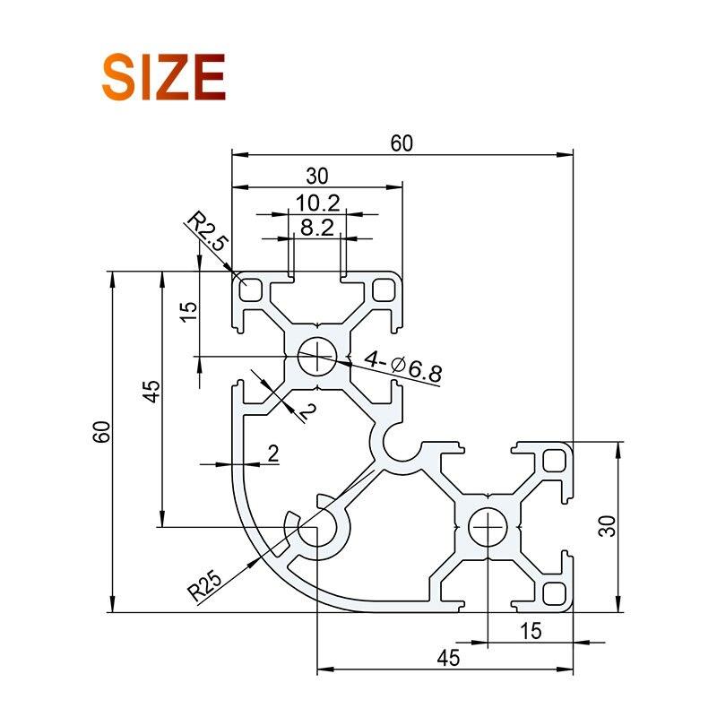 6630r Aluminium Profile En Standard Diy Brackets Aluminium Al