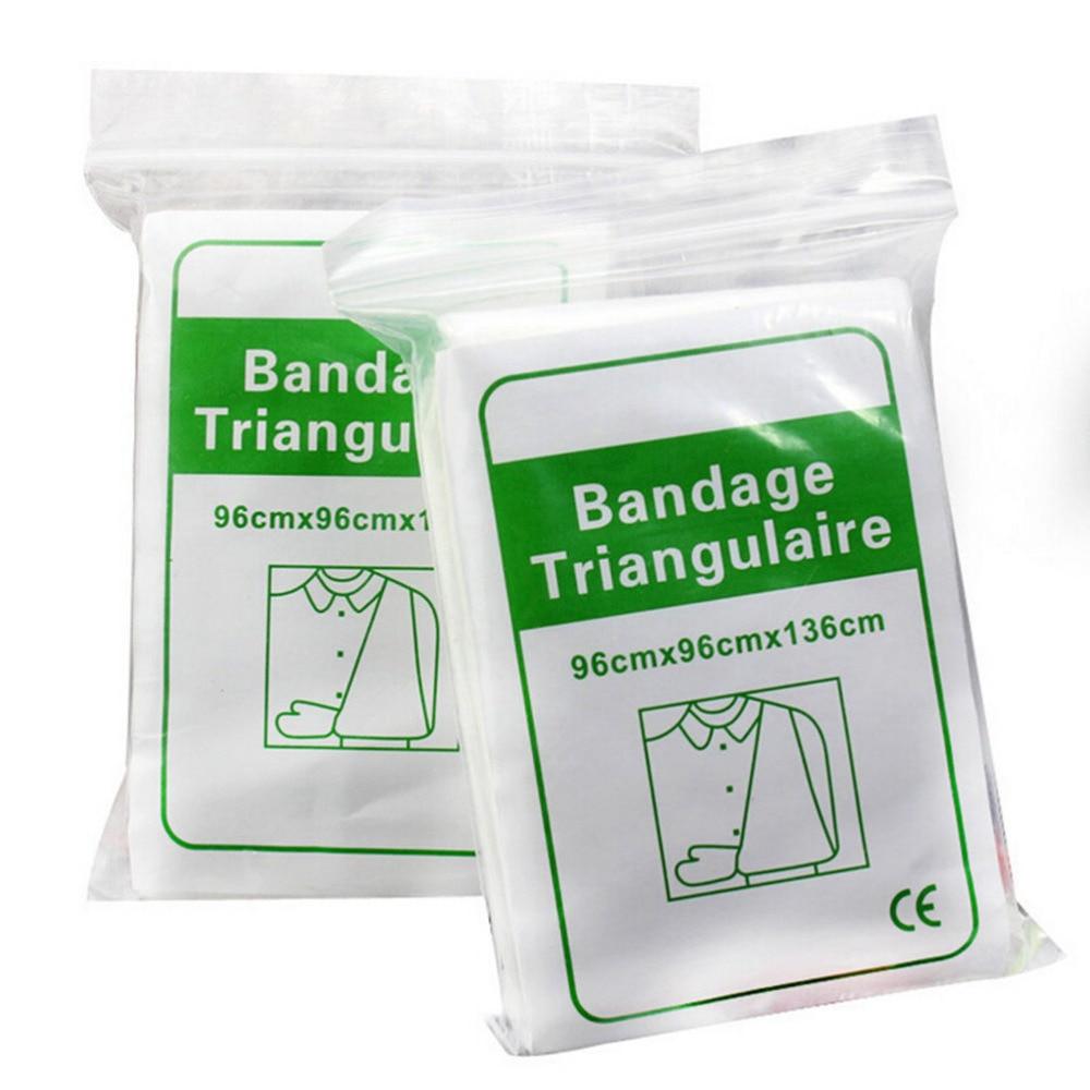 1Pack Bandage Medical Burn Dressing Bandage Triangular First Aid Kit Wrap Bandage Fracture Fixation Emergency Bandage Wound Care
