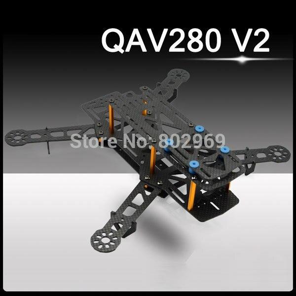 Qav280 V2 мини FPV-системы углеродного волокна/Стекло волокна Quadcopter Рамки Бесплатная доставка