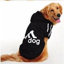 Зимние худи для домашних собак Одежда для маленьких и средних собак для щенков флисовый свитер рубашка большая домашняя собака одежда золотая одежда XS-6XL