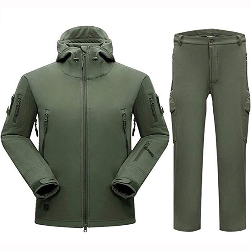 Outdoor Sharkskin TAD Military Tactical Set Camouflage Hunting Clothes Suits Waterproof Men Jacket Or Pants For Climbing Hiking