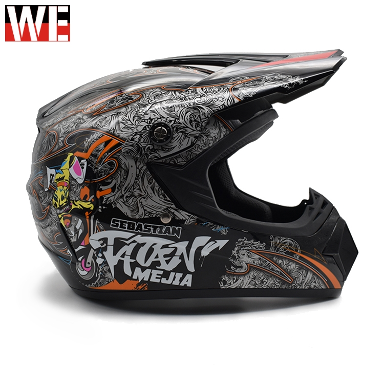 WOSAWE Motorcycle Helmet Adult Motocross Off Road Helmet Dirt bike Downhill MTB Racing Helmet Full Face