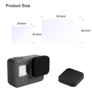 Image 5 - GAQOU Tempered Glass for Gopro Hero 7 6 5 Black Lens Cap LCD Screen Protector Go Pro Action Camera Protective Film Accessories