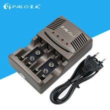 Disegno umanizzato Sicurezza Ambientale Caricabatterie Intelligente con Display A LED e Universal Plug per Caricare forAA/AAA/9 vRechargeable batteria