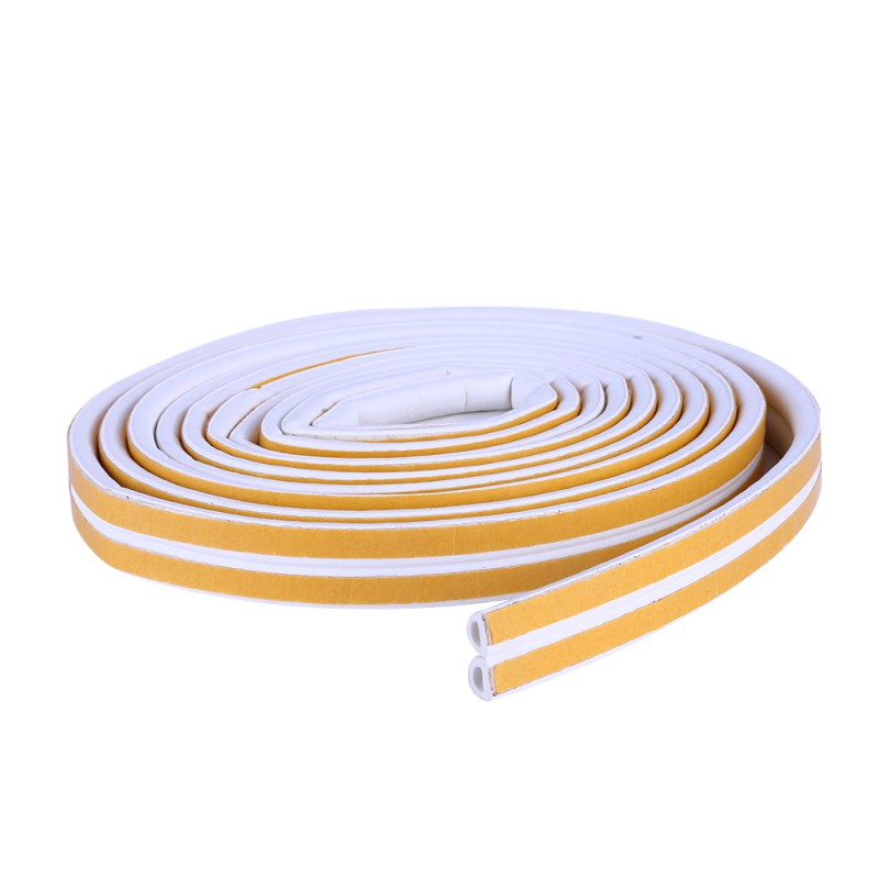 2.5m*2 Door window Anti-collision Self Adhesive EDPM Rubber Flat D Weatherproof Seal for Cracks and gaps Sealing Strips tops