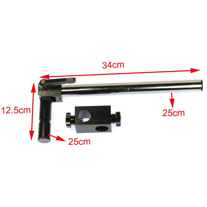 Dia Diameter 25mm Heavy Duty Multi axis Adjustable Metal Arm Support for Video Industry Microscope Table