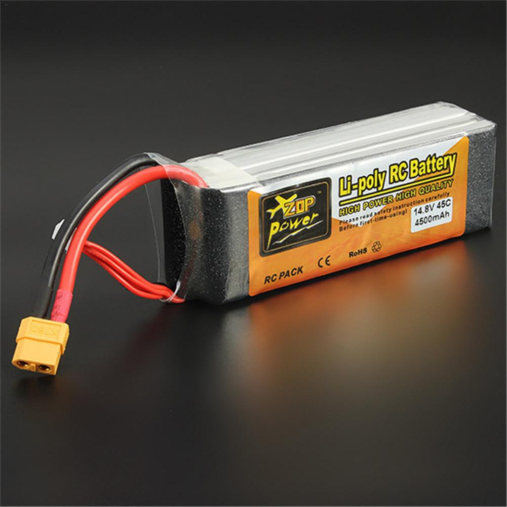 ZOP 14.8V 4500mAh 4S 45C XT60 Plug Lithium-ion Battery For Remote Control Model Aircraft (Battery)