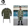 Представляют уличная kpop мужская мода мужская одежда urban clothing длинным рукавом платья простые ярусного продлен футболка