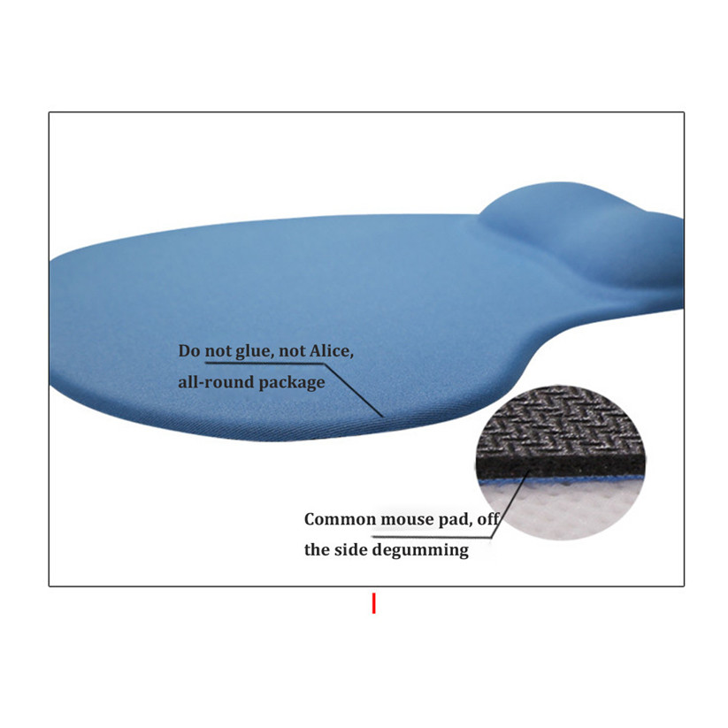 Binmer Mouse Pads Silicone Soft Mouse Pad with Wrist Rest Support Mat for Gaming PC Laptop for Mac td1228 dropship