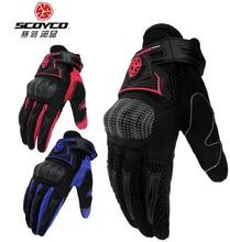 2016 новый Scoyco части улице верхом перчатки мото рыцарь перчатки на весну и лето MC23 черный красный синий цвет