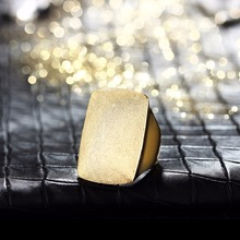 Viennois Gold or Silver Color  Geometric Size Rings for Woman