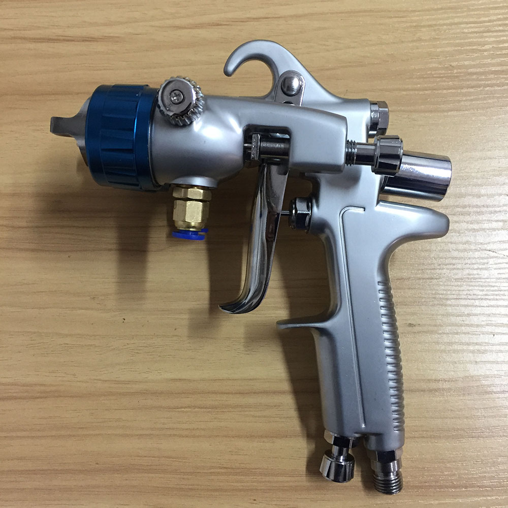 цена на SAT1189 high quality air spray gun professional chrome paint gun double nozzle air spray paint gun silver mirror chrome painting