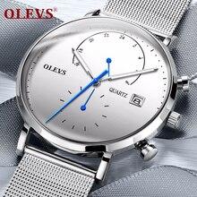 OLEVS Heren Horloges Topmerk Luxe Sport Horloge Waterdicht Lichtgevende Horloge Mannen Stalen heren Quartz Horloge relogio masculino