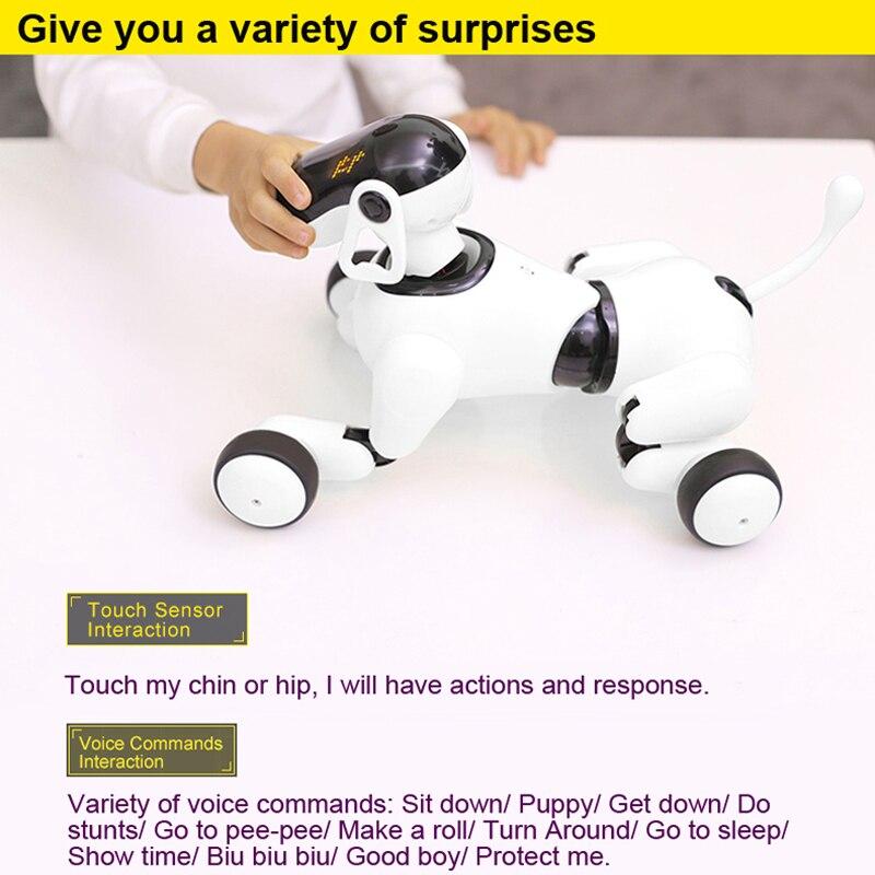 Robot chien voix et App contrôlé Robot AI chien jouets interactifs danses chante joue musique tactile jouets de contrôle de mouvement pour les enfants - 5