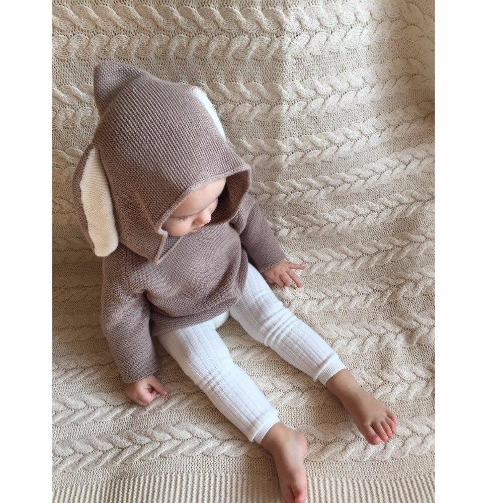 Qış 2018 Oğlanlar Sviter 3D Dovşan Bunny Pullover Uşaq Qızları - Uşaq geyimləri - Fotoqrafiya 3