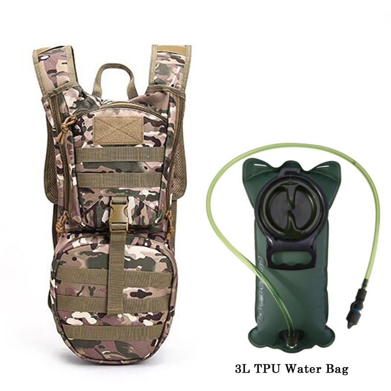 3L Outdoor Backpack Molle Military Tactical Hydration Pouch Cycling Camping Camelback Cycling Hiking Camel Bag Water Bladder Bag naturehike hot brand 3l peva bladder hydration bicycle camping hiking climbing outdoor camelback water bag green nh30y030 d