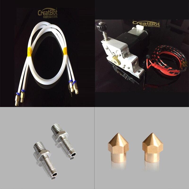 цена на Creatbot 3d printer 1.75 mm printing parts 2 pcs nozzle heatbreak tube long tube short tube for DX, DE series machine
