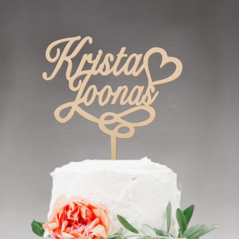 Wedding Cake Topper Personalized,custom Mr And Mrs Cake Topper Rustic  Decor, Wooden Cake Topper Name ,Wedding Party Decoration In Cake Decorating  Supplies ...