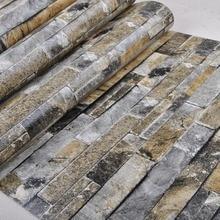 Искусственного камня, кирпича, стены 3D обои ролл современный старинные стены бумаги пвх виниловые обои для спальни и живой комнате фон