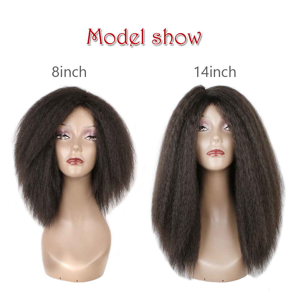 xtrend kinky straight hair bundles for african black women 8inch 14inch  short synthetic hair weave yaki wefts tissage