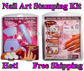 Hot Sale! Salon Express Pro Nail Art Stamping Polish Kit Finger Stencil DIY Designs 5 Set TV Product New Free shipping