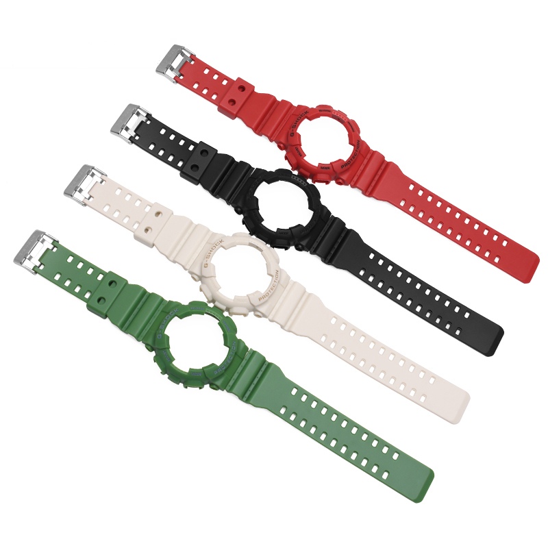 2017New Fashion natural color waterproof silicone bracelet rubber strap watchcase for GA-100/GA-300/GA-110/GA-120/G-8900 2017new 100cm 100
