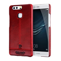 Deluxe Ultra Thin Genuine Leather Back Cover Case For Huawei P9 5 2 Inch Pierre Cardin