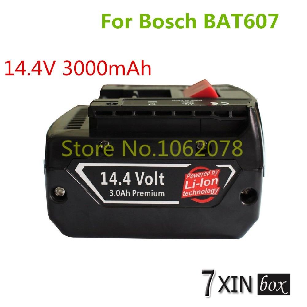 ФОТО 14.4V 3.0Ah Power Tool Li-ion Battery For Bosch BAT607 BAT607G BAT614 BAT614G DDB180-02 GDR 1080-LI GSR 1080-LI 2 607 336 078