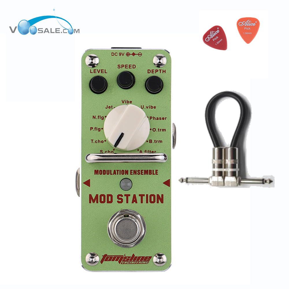 AMS-3 Mod Station Modulation Ensemble Guitar Effect Pedal Aroma Mini Pedal Effect With True Bypass Full Metal Shell+ Free Cable aroma aos 3 octpus polyphonic octave electric guitar effect pedal mini single effect with true bypass
