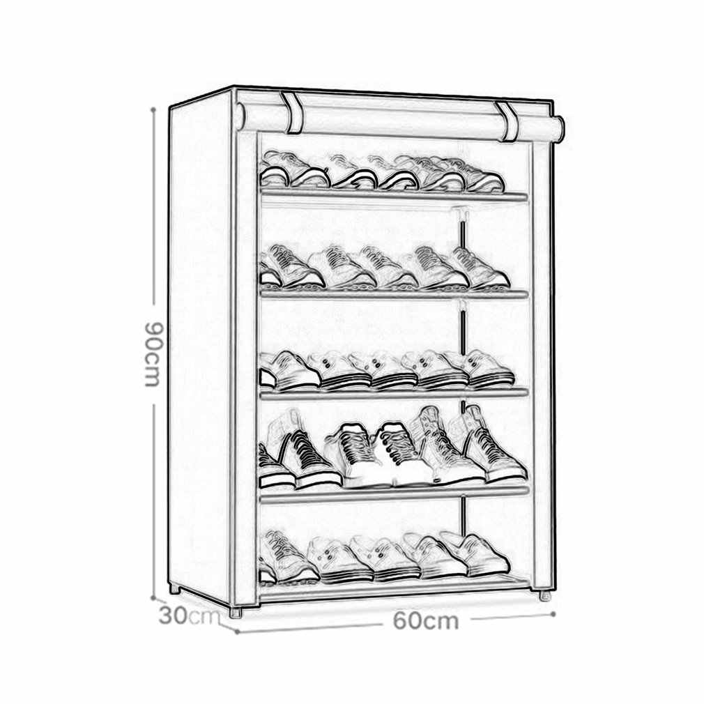 Dustproof Large Size Non Woven Fabric Shoes Rack Organizer Home Bedroom Dormitory Shoe Racks