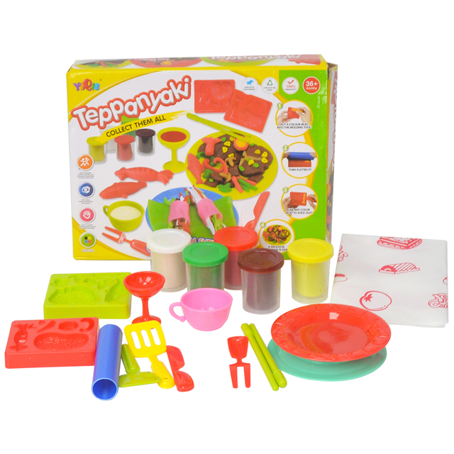 JOY MAGS DIY Malleable Fimo Polymer Modeling Clay Playdough Tools Soft Blocks Plasticine playdough set Birthday Gift