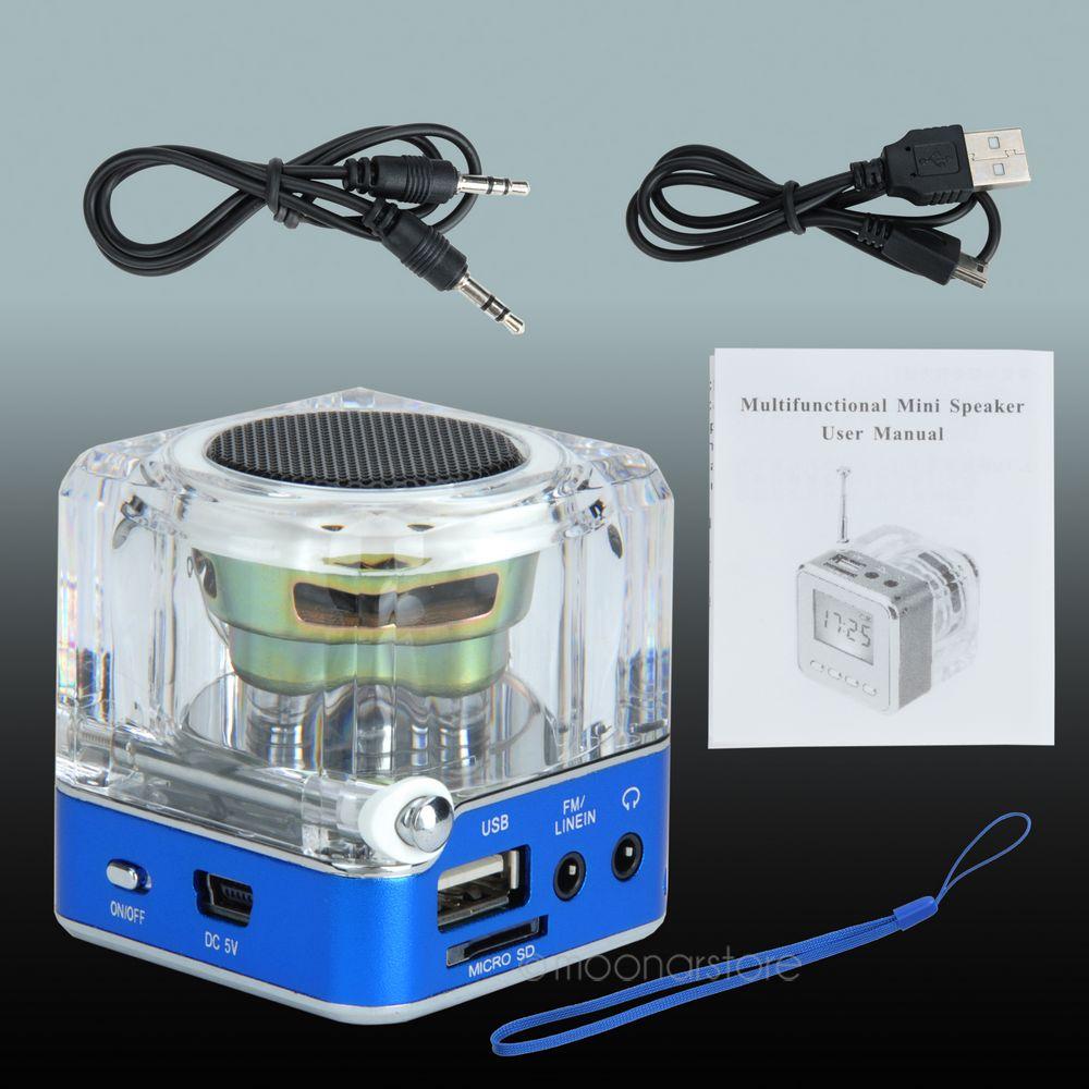 40 NIZHI TT 028 Multi Colors Loudspeaker LED Display Portable Mini ...