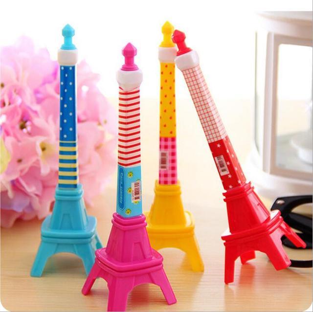 Coréia Papelaria Criativa Caneta Esferográfica Forma Encantadora Torre Eiffel Torre de Som Estilo