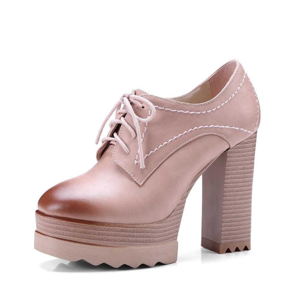 Lenkisen new microfiber square toe super high heels summer shoes lace up 4 colors concise leisure novelty style women pumps L9f5